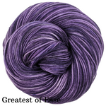 Knitcircus Yarns: Grape Stomping Speckled Handpaint Skeins, dyed to order yarn