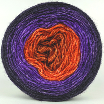 Knitcircus Yarns: Bewitched 100g Panoramic Gradient, Breathtaking BFL, ready to ship yarn