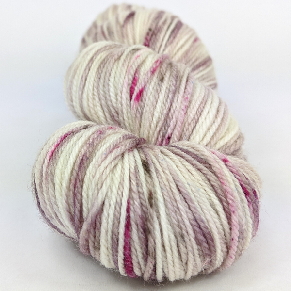 Knitcircus Yarns: Champagne and Strawberries 100g Speckled Handpaint skein, Flying Trapeze, ready to ship yarn