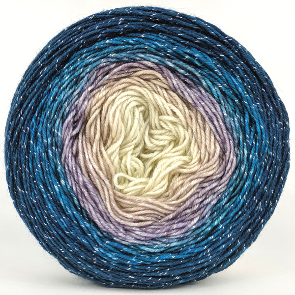 Knitcircus Yarns: Counting Sheep 100g Panoramic Gradient, Sparkle, ready to ship yarn