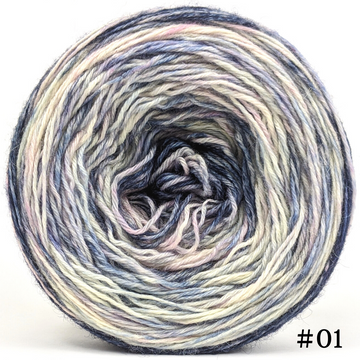 Knitcircus Yarns: A Quiet Night 100g Modernist, Breathtaking BFL, choose your cake, ready to ship yarn