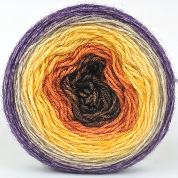 Knitcircus Yarns: Pumpkin to Talk About 100g Panoramic Gradient, Breathtaking BFL, ready to ship yarn