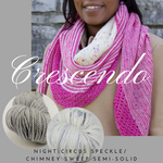 Crescendo Shawl Yarn Pack, pattern not included, ready to ship