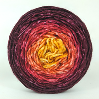 Knitcircus Yarns: Leaf Pile Leap 50g Panoramic Gradient, Greatest of Ease, ready to ship yarn
