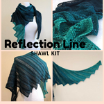 Reflection Line Shawl Yarn Pack, pattern not included, ready to ship