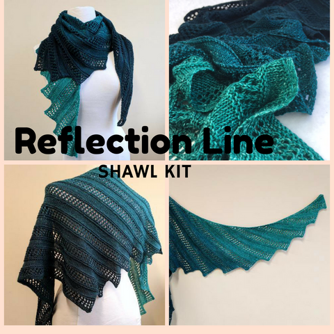 Reflection Line Shawl Kit, ready to ship