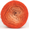 Knitcircus Yarns: Orange You Glad 100g Chromatic Gradient, Breathtaking BFL, ready to ship yarn