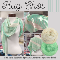 Hug Shot Shawl Yarn Pack, pattern not included, dyed to order