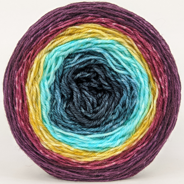 Knitcircus Yarns: Return of the King 100g Panoramic Gradient, Flying Trapeze, ready to ship yarn