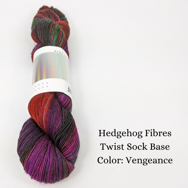Twist Sock Yarn by Hedgehog Fibres, assorted colors, ready to ship