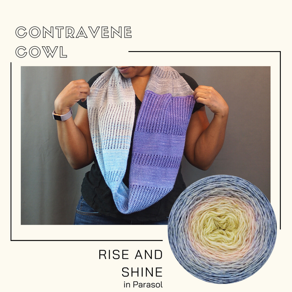 Contravene Cowl Yarn Pack, pattern not included, ready to ship
