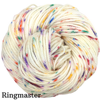 Knitcircus Yarns: Over the Rainbow Speckled Handpaint Skeins, dyed to order yarn