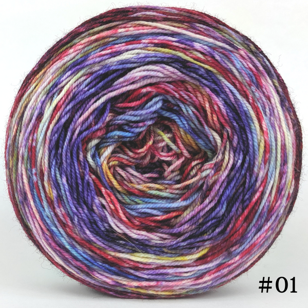 Knitcircus Yarns: Simply Splendid 100g Modernist, Trampoline, choose your cake, ready to ship yarn