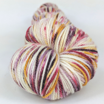 Knitcircus Yarns: Leaf Pile Leap 100g Speckled Handpaint skein, Flying Trapeze, ready to ship yarn