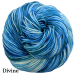 Knitcircus Yarns: Faraway Land Speckled Handpaint Skeins, dyed to order yarn