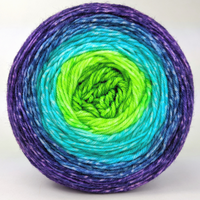 Knitcircus Yarns: Monstropolis 100g Panoramic Gradient, Greatest of Ease, ready to ship yarn
