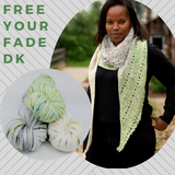 Free Your Fade DK Shawl Yarn Pack, pattern not included, ready to ship