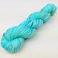 Knitcircus Yarns: We Scare Because We Care 100g Speckled Handpaint skein, Greatest of Ease, ready to ship yarn