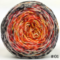 Knitcircus Yarns: Eye of Sauron 100g Impressionist Gradient, Trampoline, choose your cake, ready to ship yarn