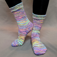 Knitcircus Yarns: Horse of a Different Color Abstract Matching Socks Set (medium), Greatest of Ease, choose your cakes, ready to ship yarn