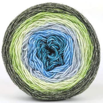 Knitcircus Yarns: Growing Like A Weed 100g Panoramic Gradient, Sparkle, ready to ship yarn