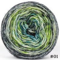 Knitcircus Yarns: Growing Like A Weed 100g Impressionist Gradient, Breathtaking BFL, choose your cake, ready to ship yarn