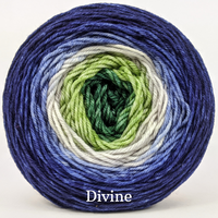 Knitcircus Yarns: Plant One on Me Panoramic Gradient, dyed to order yarn