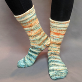 Country Roads Impressionist Gradient Matching Socks Set, dyed to order