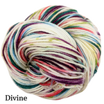 Knitcircus Yarns: Sugar Plum Fairy Speckled Handpaint Skeins, dyed to order yarn