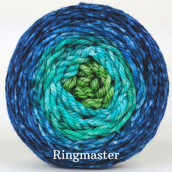 Knitcircus Yarns: Dive Right In Panoramic Gradient, dyed to order yarn