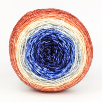 Knitcircus Yarns: Bad Moon on the Rise 50g Panoramic Gradient, Trampoline, ready to ship yarn