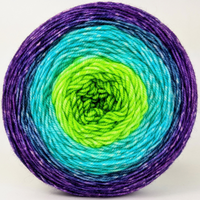 Knitcircus Yarns: Monstropolis 100g Panoramic Gradient, Trampoline, ready to ship yarn