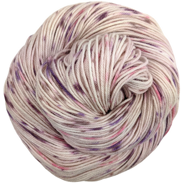Knitcircus Yarns: Fig and Prosciutto 100g Speckled Handpaint skein, Greatest of Ease, ready to ship yarn