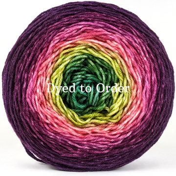 Knitcircus Yarns: Just Beet It Panoramic Gradient, dyed to order yarn