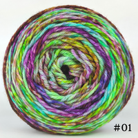 Knitcircus Yarns: Electric Mayhem 150g Modernist, Ringmaster, choose your cake, ready to ship yarn