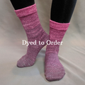 Knitcircus Yarns: La Vie en Rose Chromatic Gradient Matching Socks Set, dyed to order yarn