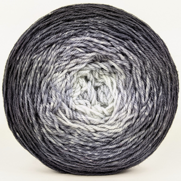 Knitcircus Yarns: Shades of Gray 150g Chromatic Gradient, Flying Trapeze, ready to ship yarn