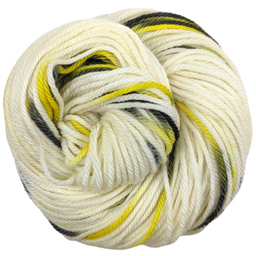 Knitcircus Yarns: Flight of the Bumblebee 100g Speckled Handpaint skein, Ringmaster, ready to ship yarn