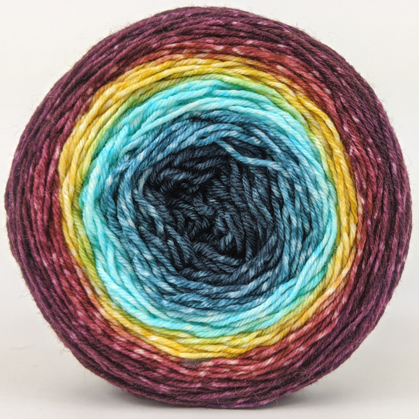 Knitcircus Yarns: Return of the King 100g Panoramic Gradient, Greatest of Ease, ready to ship yarn