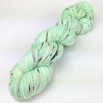Knitcircus Yarns: Mint Chocolate Chip 100g Speckled Handpaint skein, Greatest of Ease, ready to ship yarn
