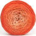 Knitcircus Yarns: Orange You Glad 100g Chromatic Gradient, Flying Trapeze, ready to ship yarn - SALE
