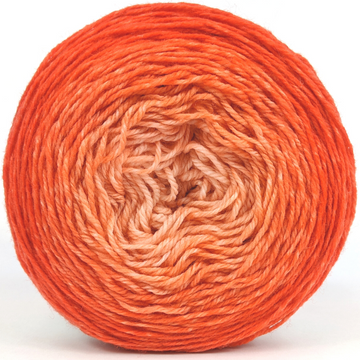 Knitcircus Yarns: Orange You Glad 100g Chromatic Gradient, Flying Trapeze, ready to ship yarn