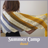 Summer Camp Shawl kit, dyed to order