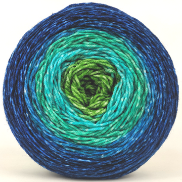 Knitcircus Yarns: Dive Right In 150g Panoramic Gradient, Greatest of Ease, ready to ship yarn
