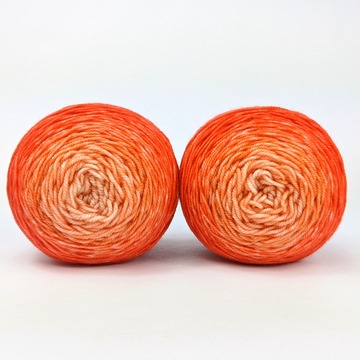 Knitcircus Yarns: Orange You Glad Chromatic Gradient Matching Socks Set (large), Trampoline, ready to ship yarn