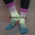 Knitcircus Yarns: Never Enough Knitting Panoramic Gradient Matching Socks Set, dyed to order yarn