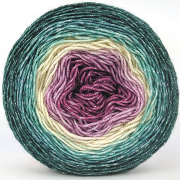 Knitcircus Yarns: Jingle Bells 100g Panoramic Gradient, Sparkle, ready to ship yarn