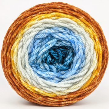 Knitcircus Yarns: Are We There Yet? 100g Panoramic Gradient, Ringmaster, ready to ship yarn