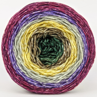 Knitcircus Yarns: Plum's the Word 150g Panoramic Gradient, Divine, ready to ship yarn