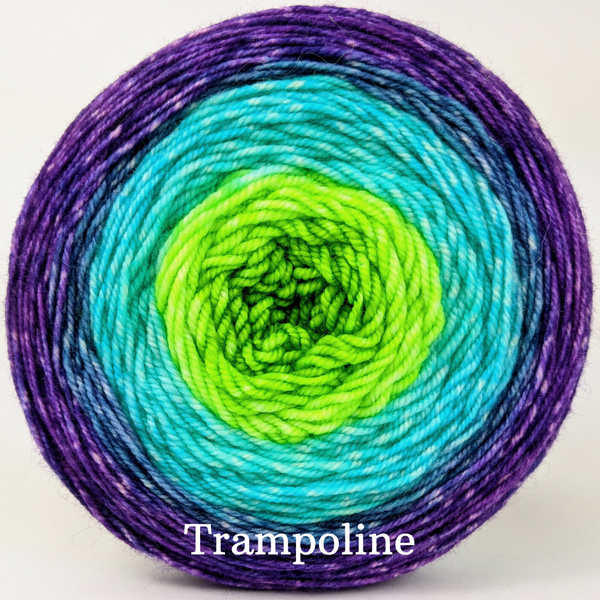Knitcircus Yarns: Monstropolis Panoramic Gradient, dyed to order yarn